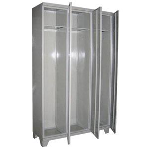Металлический шкаф для одежды сварной ШР-3